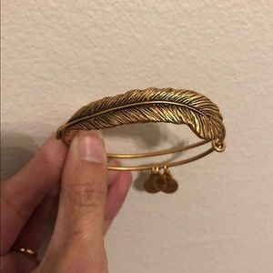 Alex and Ani gold feather bracelet